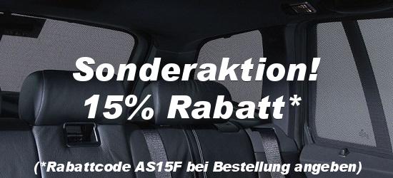 Sonderaktion - 15% Rabatt bei www.auto-sonnenschutz.ch